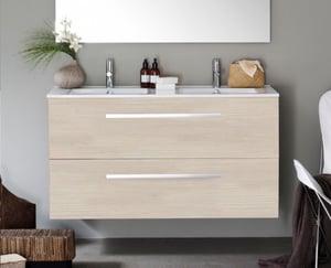 Meuble 2 tiroirs, 120 cm WOODSTOCK Bois clair