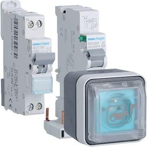 Prise renforcée Hager Witty 3kW en saillie (XEV080P) + protections électriques