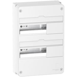 Resi9 - Coffret en saillie Blanc (RAL 9003)- 2 rangées de 13 modules Schneider Electric