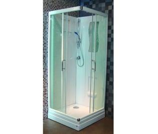 Cabine de douche CONCERTO 2 - 80 x 80 cm accès d'angle coulissant