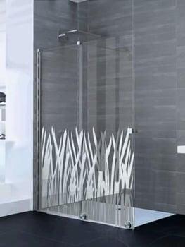Paroi de douche coulissante PUREDAY verre décor chrome profilé chromé 120 gauche