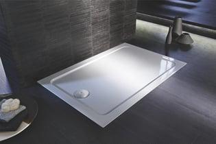 Receveur FLIGHT rectangulaire extra-plat 120 x 80 x 4 cm, blanc Réf. E62450-00