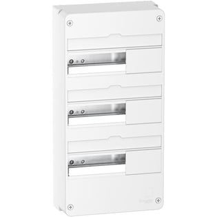 Resi9 - Coffret en saillie Blanc (RAL 9003)- 3 rangées de 13 modules Schneider Electric