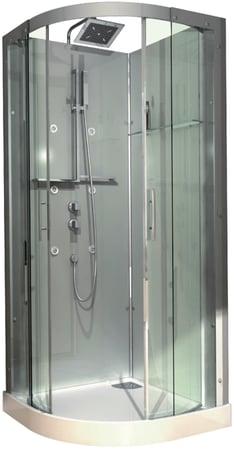 Cabine de douche hydromassante accès d'angle