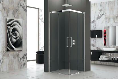 Paroi de douche verre 80 cm gauche Novellini