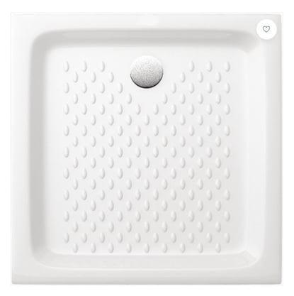 Receveur à encastrer VERS'EAU 80 x 80 cm Grès blanc
