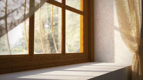 Pose de fenêtre en bois