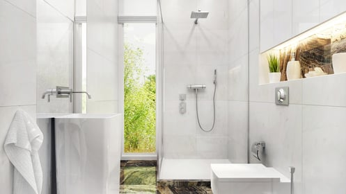 Pose de mitigeur d'une douche à italienne