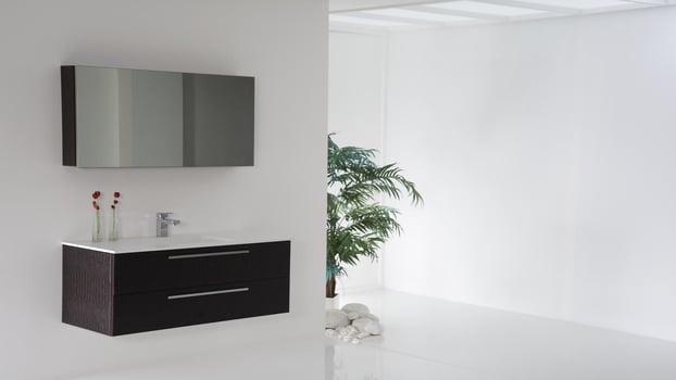 Installation meuble à miroir