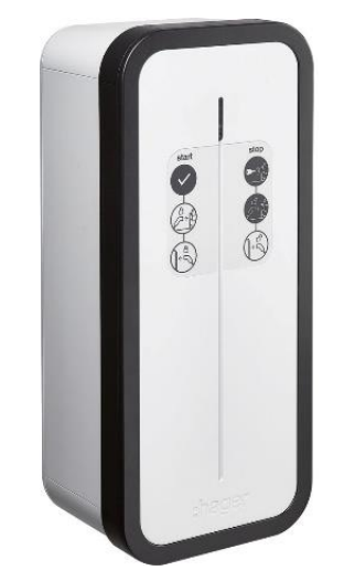 Borne de recharge Hager Witty Start à clé 9-22 kW double prise T2/TE