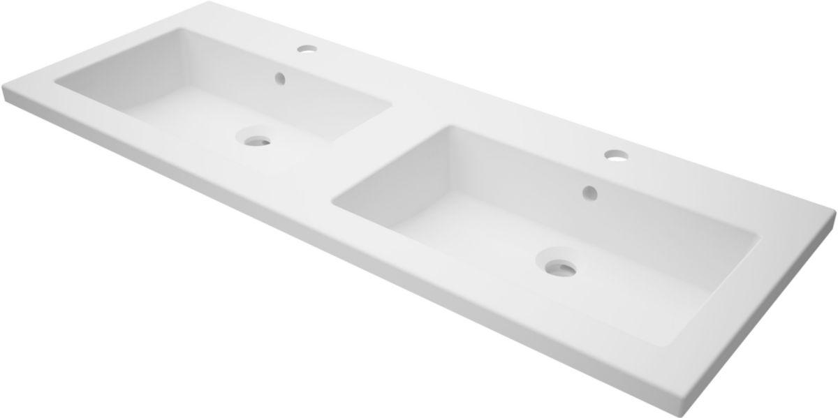 Plan de toilette CONCERTO2 120 cm en synthèse double vasque
