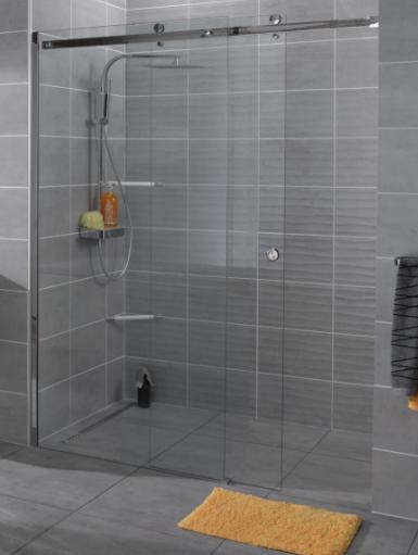 Porte de douche Design 160 cm coulissant