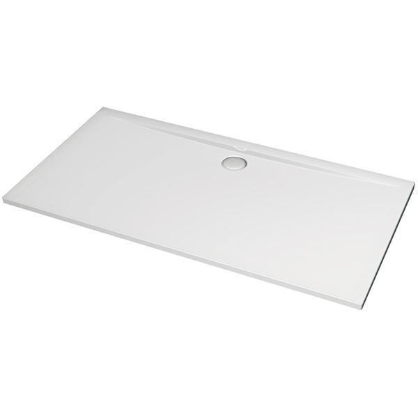 Receveur ULTRA FLAT, 120 x 80 cm, extra-plat, avec traitement anti-dérapant, blanc