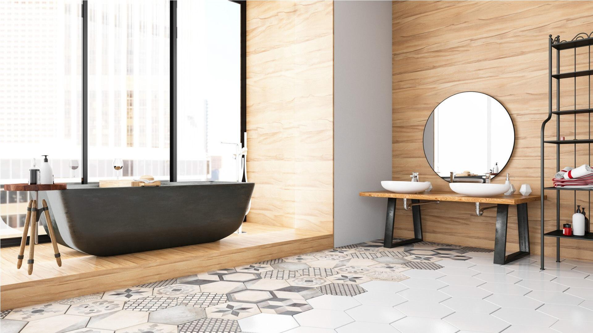 Fourniture et pose de revêtement de sol pour salle de bain