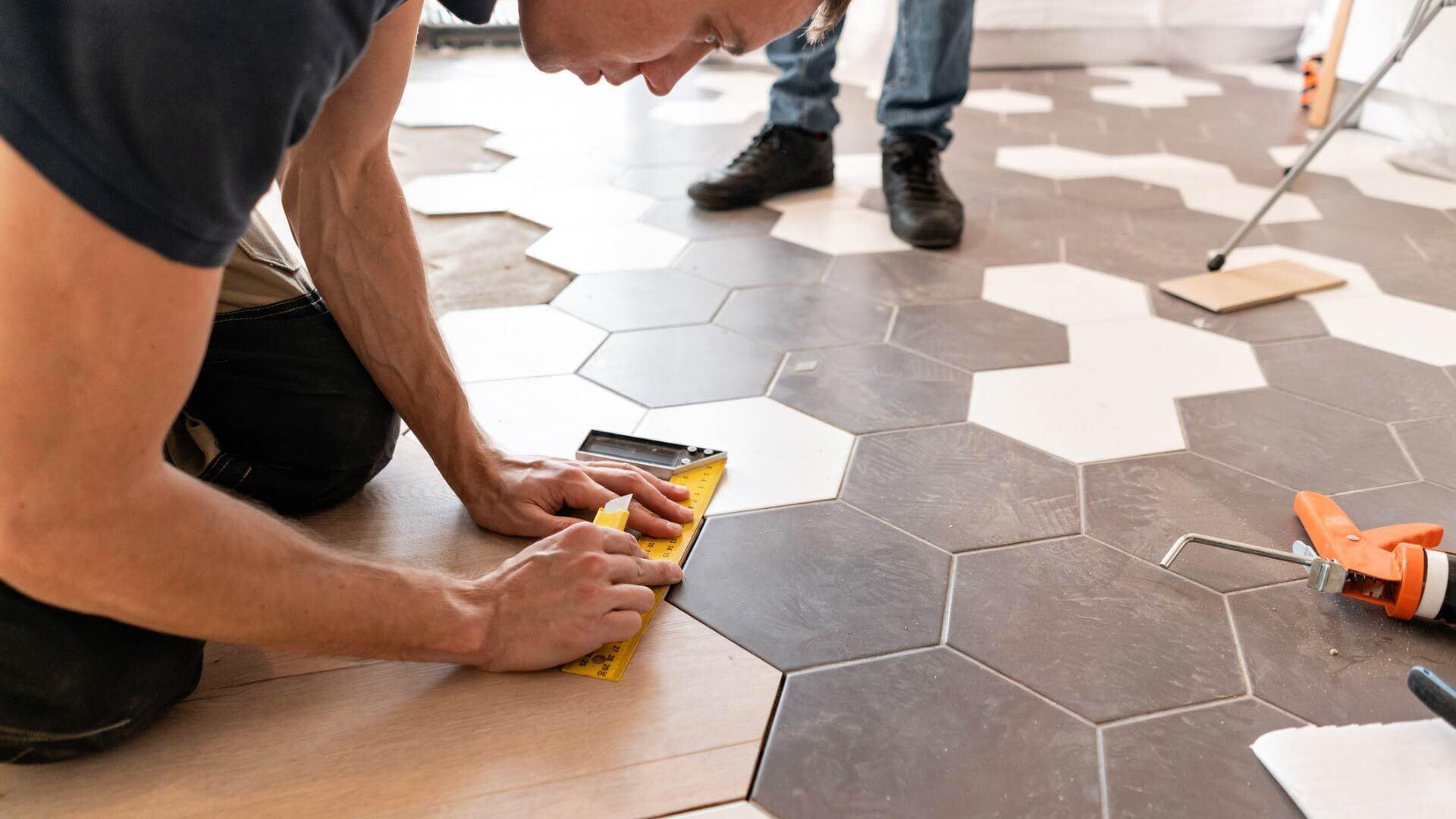 Fourniture et pose de revêtement de sol pour une cuisine