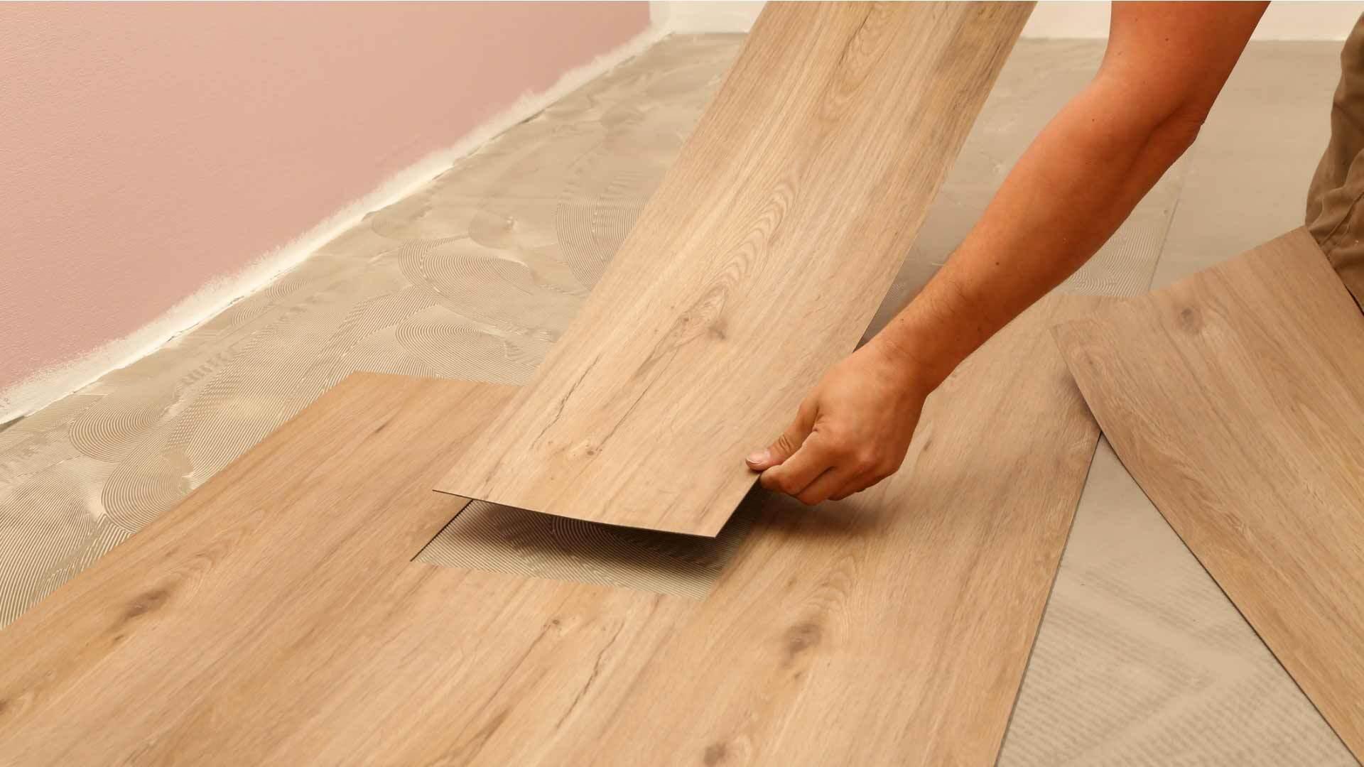 Pose de revêtement de sol vinyle