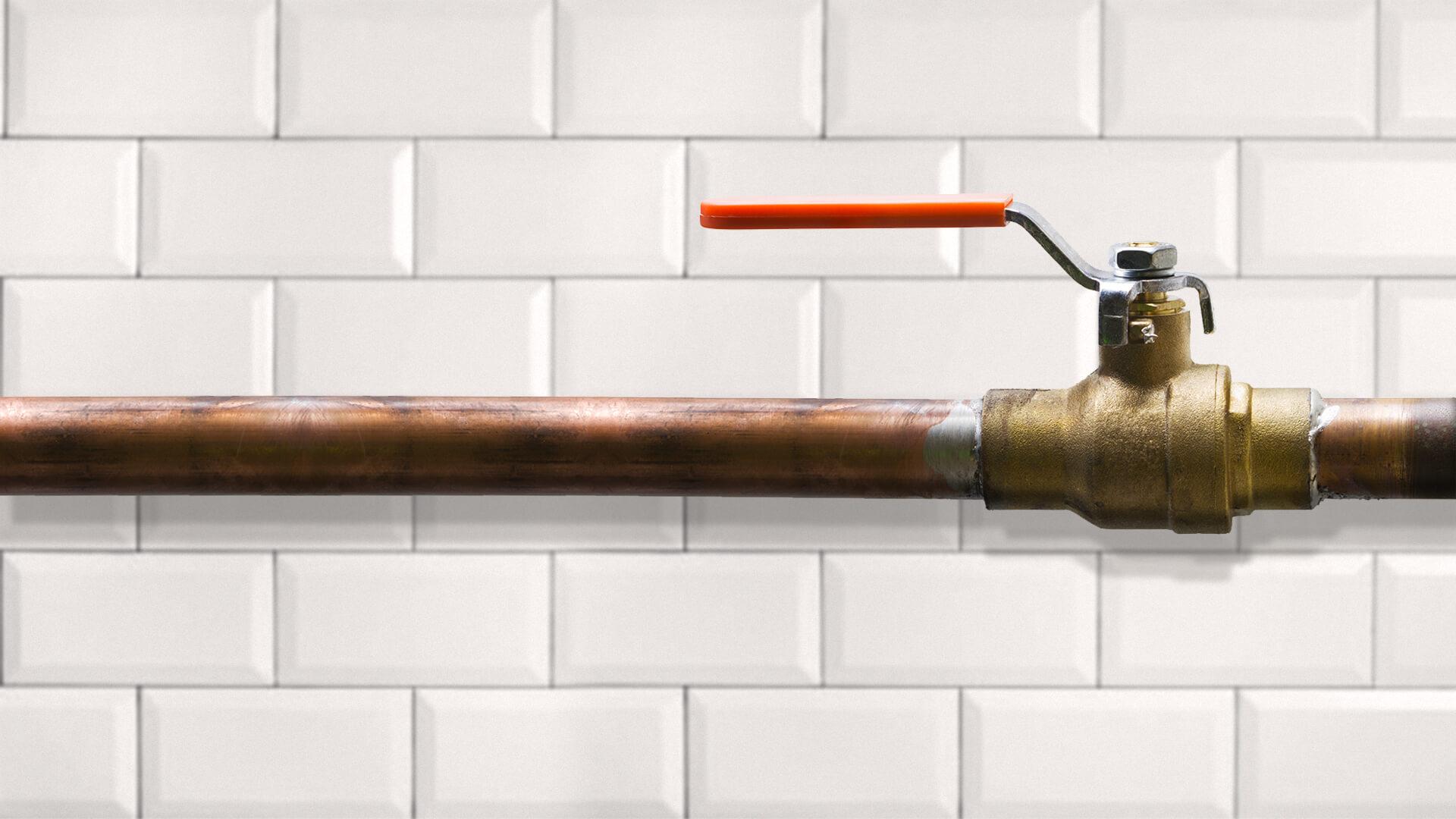 Installation d'un robinet d'arrivée d'eau