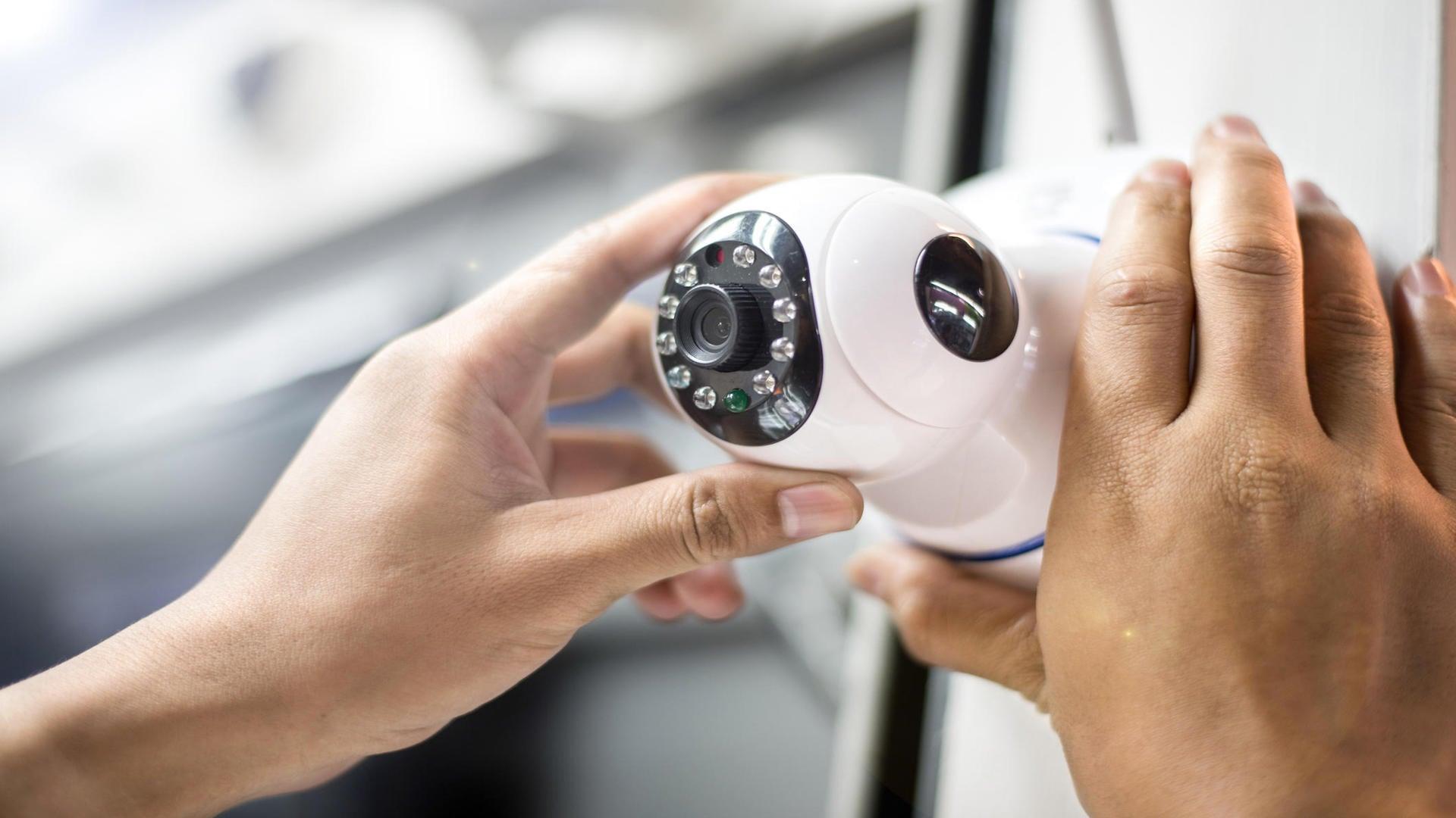 Installation de caméra de surveillance