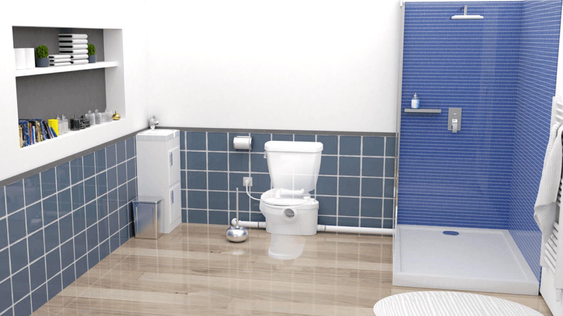Installation de WC broyeur