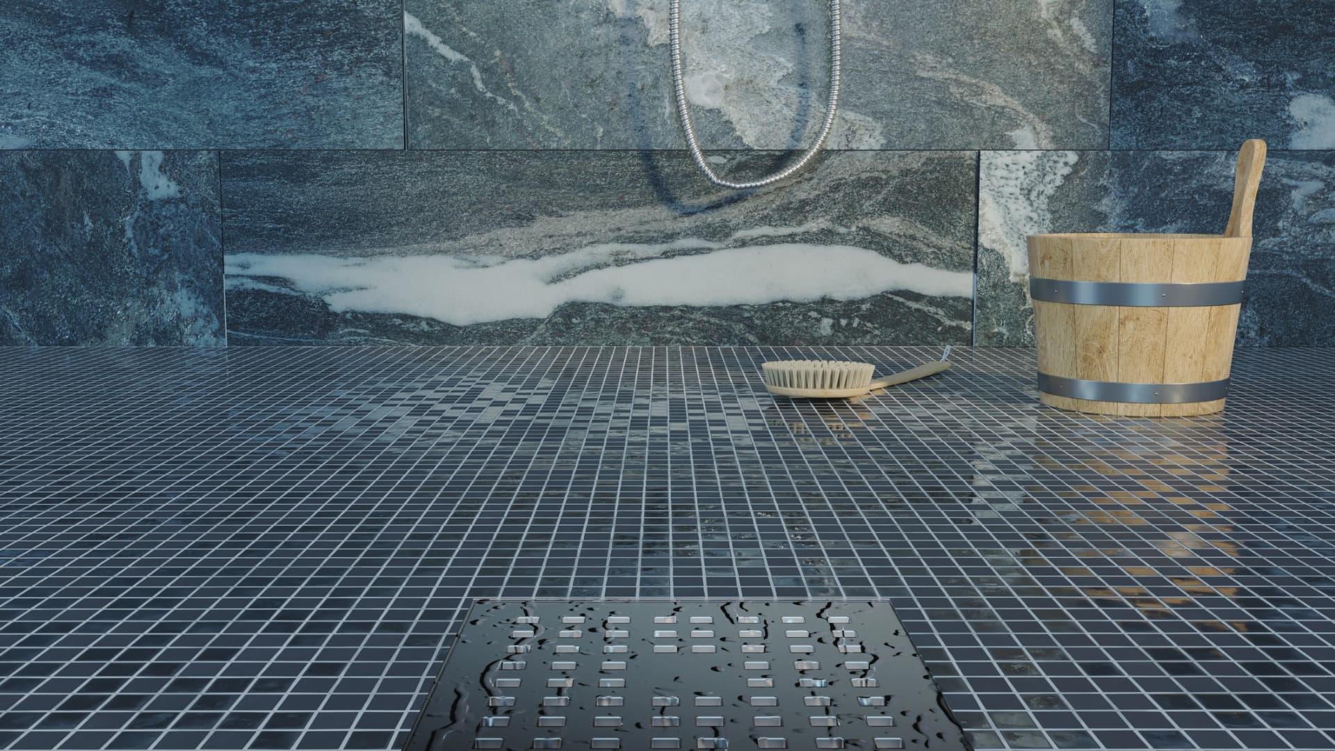 Pose d'un receveur de douche à carreler