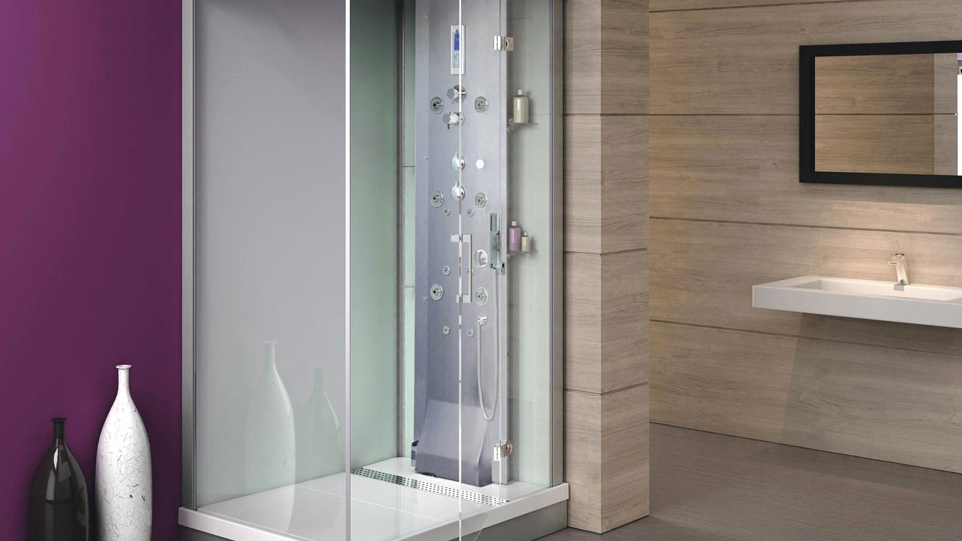 pose d 39 une cabine de douche devis et prix propos s par. Black Bedroom Furniture Sets. Home Design Ideas