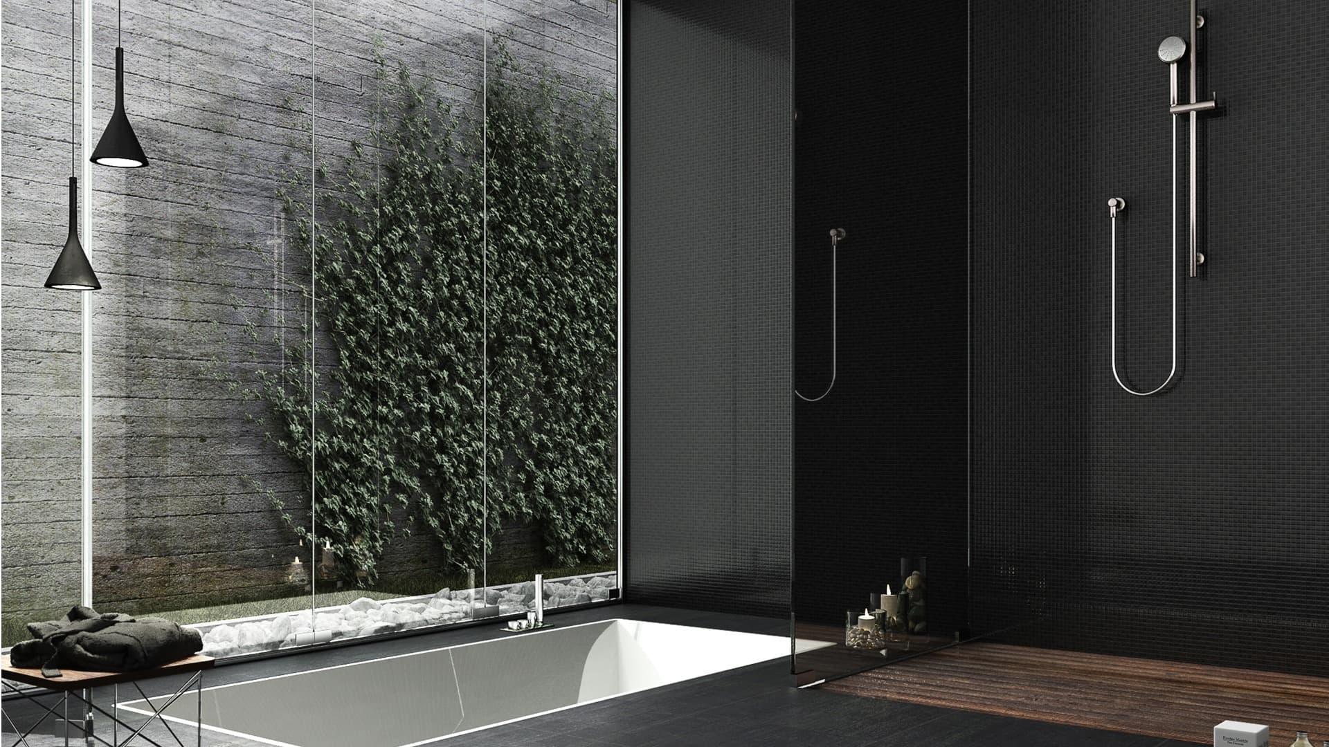 Pose d'une colonne de douche à l'italienne
