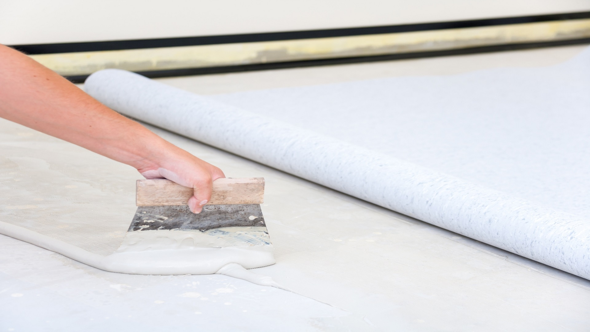 Installation de sols en PVC
